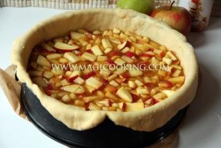 Немецкий яблочный торт с кремом