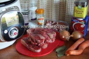 Beef casserole в мультиварке Moulinex cook4me