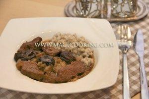Говядина с черносливом в мультиварке Moulinex cook4me