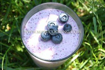 Голубично-кокосовый пудинг с семенами чиа