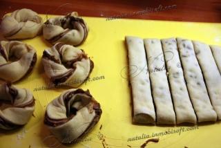 Булочки с ореховой и шоколадной пастой
