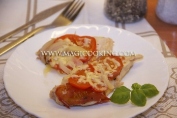 Куриная грудка под маринадом в в мультиварке Moulinex cook4me