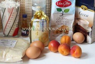 Шоколадный тарт с абрикосами и франжипаном