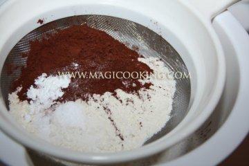 Шоколадный кекс на йогурте