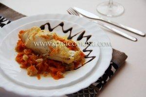 Треска под маринадом в мультиварке Moulinex cook4me