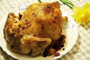 Курица с яблоками и клюквой