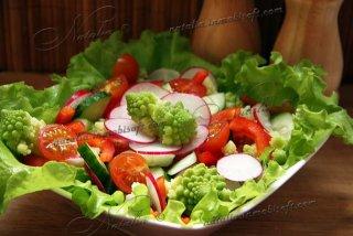 Салат с капустой Романеско