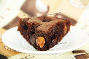 мега шоколадный торт с ирисками