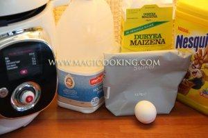 Легкий шоколадный крем в мультиварке Moulinex Cook4me