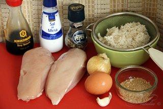 Dim sum курица и рис