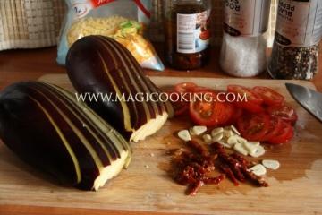 Баклажаны фаршированные в мультиварке Moulinex cook4me