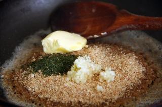 фасоль в чесночной панировке