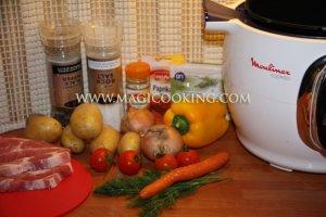 Венгерский гуляш в мультиварке Moulinex cook4me