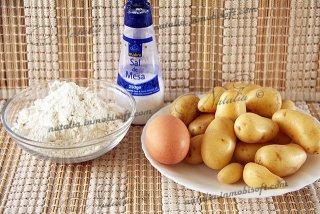 Картофельный пирог со спаржей