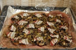 куриный рулет с грибами