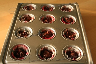 маффины шоколадно-вишневые
