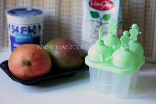 Фруктовое мороженое из манго