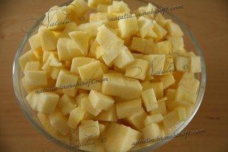Пирог из рикотты с яблоками