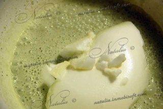 Пломбир со вкусом зеленого чая