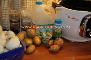 Картофель с грибами в мультиварке Moulinex cook4me