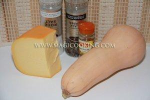 Тыква жареная с сыром