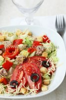 Салат с тунцом и паприкой