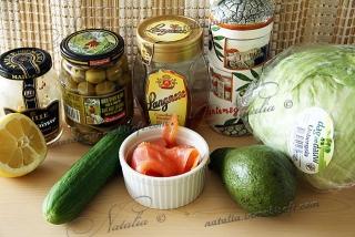 """Салат """"Семга с авокадо"""""""