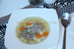Суп из куриных желудков в мультиварке
