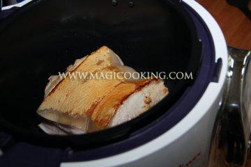 Свиной подчеревок в мультиварке Moulinex cook4me