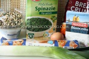 Быстрый пирог со шпинатом и рикоттой