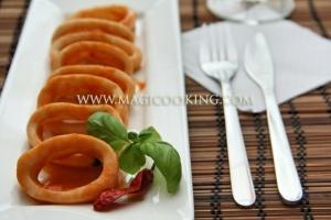 Кальмары в томатном соусе в мультиварке Moulinex cook4me