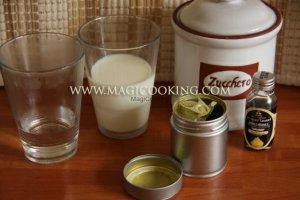 Ванильно-молочный матча чай