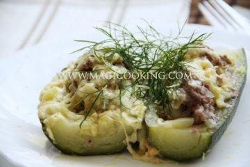 Кабачки с мясом в мультиварке Moulinex cook4me